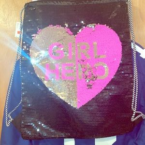 Justice Girl Hero Sequin Book Bag